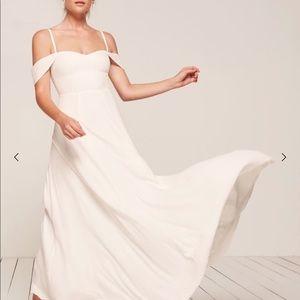 Reformation Ivory Poppy Dress